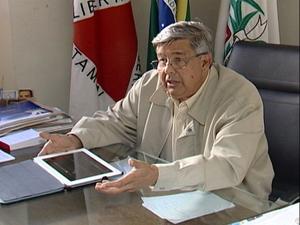 Prefeito de Araxá, Jeová Moreira da Costa (Foto: Reprodução/Tv Integração)