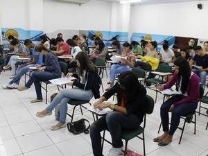 Provas de vestibular são aplicadas neste domingo, 13,  para 600 candidatos. Esamaz belém concurso (Foto: Divulgação)