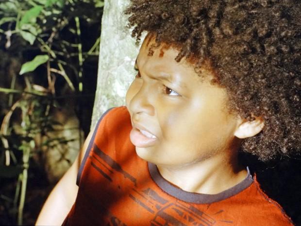 De cara com a Besta! Nilson encontra a lenda de Tapiré! Será? (Foto: Além do Horizonte/TV Globo)
