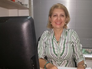 Laura Borges, assessora de relações internacionais do Ifro é uma das organizadoras do programa (Foto: Toni Francis/G1)