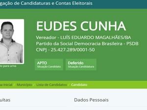Candidato do PSDB foi flagrado oferecendo dinheiro a eleitores, segundo polícia (Foto: Divulgação/ TSE)
