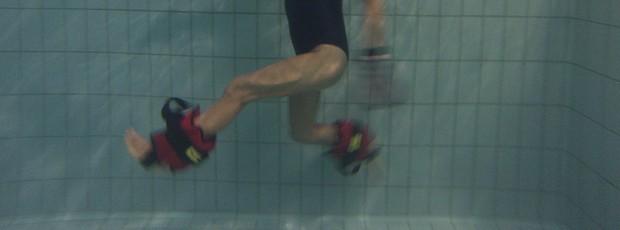 Corrida na piscian com caneleira (Foto: Hidrovita)