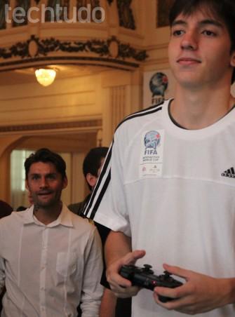 Partidas chamaram atencao de jogadores do Fluminense, como Rafael Sobis na FIWC 2014 (Foto: Carol Danelli/ TechTudo)
