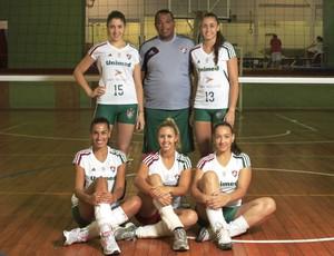 Time feminino de Vôlei do Fluminense (Foto: Nelson Perez / Fluminense.com.br)