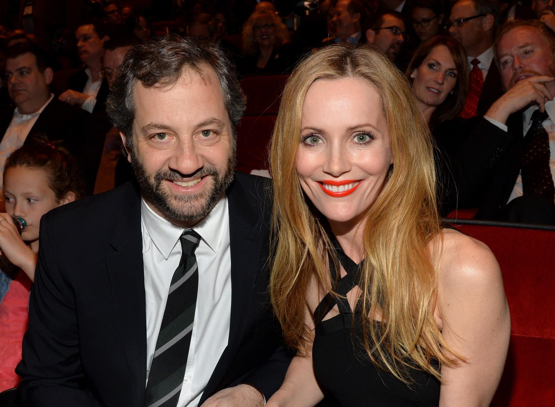 Juntos, eles dominam o mundo da comédia. Leslie participou de alguns filmes do marido, como 'Bem-Vindo aos 40' e 'Ligeiramente Grávidos'. (Foto: Getty Images)