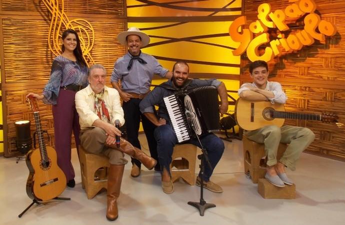 Galpão Crioulo João de Almeida Neto, Samuca do Acordeon e Neuro Jr (Foto: Nice Sordi/Divulgação)