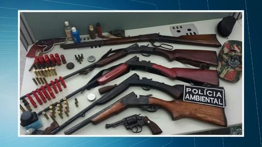 No CE, polícia prende dois homens e apreende armas e animais silvestres