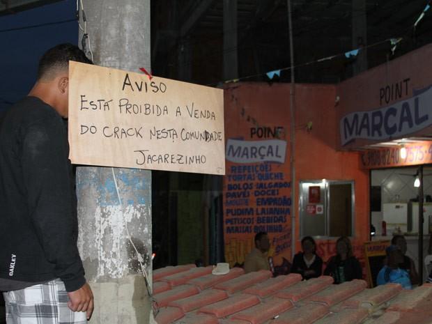 Proibida a venda de crack no Jacarezinho (Foto: Divulgação/Rio de Paz)