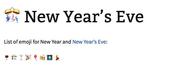 O emoji representa a noite de ano novo (Foto: Reprodução/Melissa Cruz)