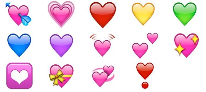 Emojis de corações (Foto: Felipe Alencar/TechTudo)