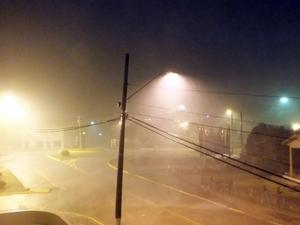 Cidade de Campo Erê, no Oeste, teve todos os bairros atingidos por granizo na noite de segunda (7) (Foto: Campoere.com/Divulgação)