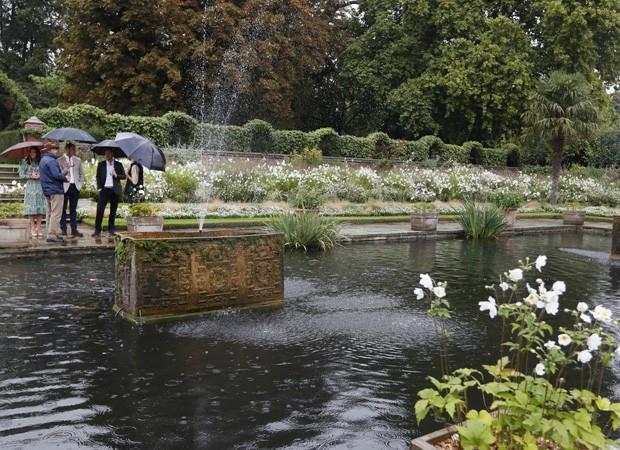 Jardim em homenagem à princesa Diana (Foto: Getty Images)