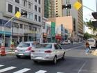 Avenida Francisco Glicério  tem novo semáforo no Centro de Campinas