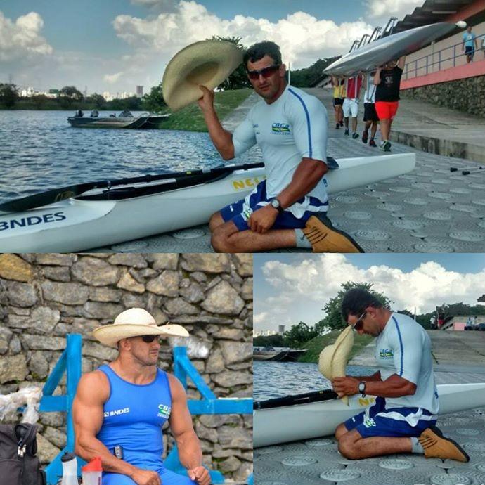 Fernando Rufino agradece ajoelhado por cada dia de treinamento (Foto: Arquivo Pessoal)