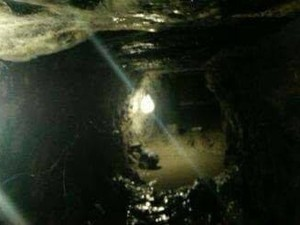 O túnel de 30 metros foi encontrado durante vistoria da PM (Foto: Arquivo Pessoal)