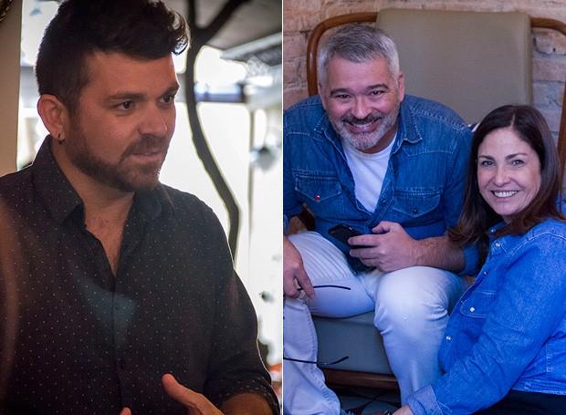 O chef Guga Rocha, o arquiteto Ricardo Caminada e Cláudia Pixu, editora-executiva da Casa e Comida  (Foto: Márcia Evangelista/ Editora Globo)