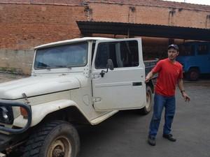 Homem compra carro a diesel para se previnir em Piracicaba (Foto: Fernanda Zanetti/G1)