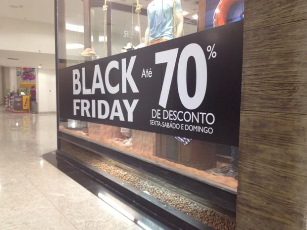 Black Friday em shopping de Macapá (Foto: Fabiana Figueiredo/G1)
