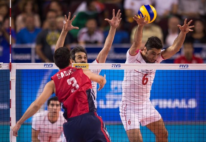 Estados Unidos x Irã, Liga Mundial de vôlei (Foto: FIVB)