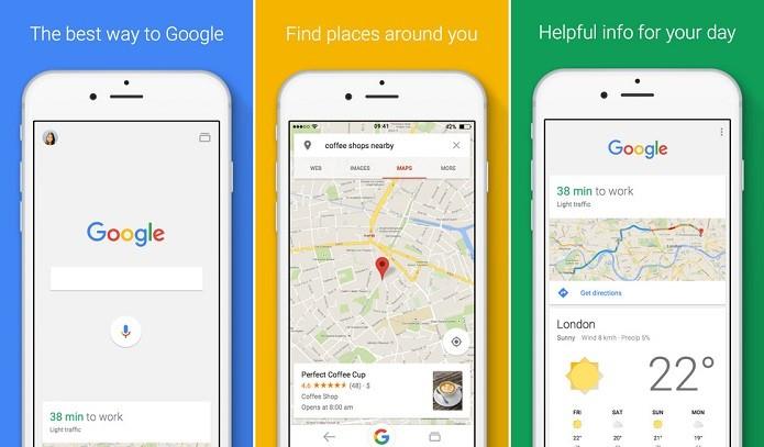 Google para iOS ganhou atualização (Foto: Divulgação/Google)