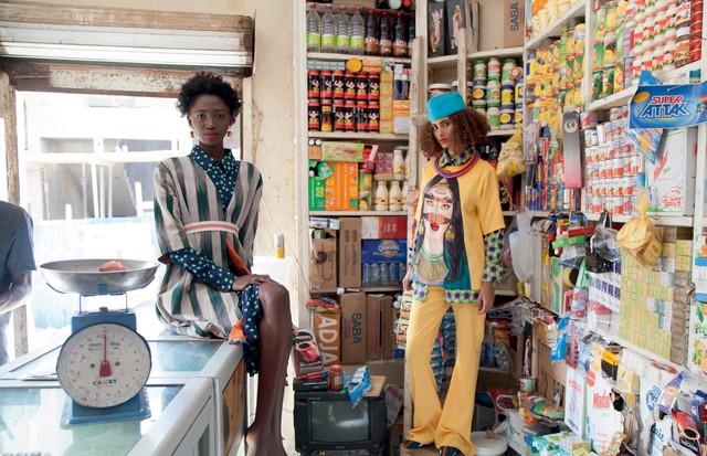 Criações da Adama Paris, grife de Adama Ndiaye (Foto: Divulgação e Reprodução Instagram)