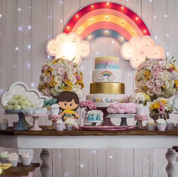 Detalhe da decoração do aniversário de Ana Laura, filha de Duda Little (Foto: Reprodução/Instagram)