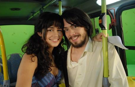 Em cena com Fábio Enriques num episódio de 'Clandestinos - o sonho não acabou', exibido em 2010 Alex Carvalho/TV Globo
