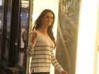 Lisandra Souto e Tande quase se esbarram em shopping no Rio