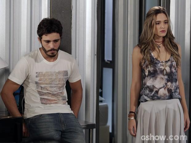 Lili e William brigam por causa de LC (Foto: Fábio Rocha/TV Globo)