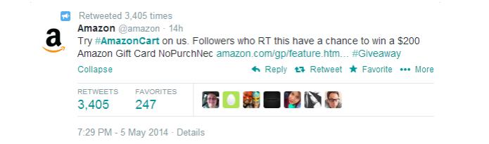 Amazon anunciou recurso de compras pelo Twitter (Foto: Reprodução/Twitter) (Foto: Amazon anunciou recurso de compras pelo Twitter (Foto: Reprodução/Twitter))
