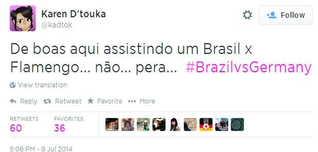 Brasil x Flamengo? Não pera... (Foto: Reprodução/Twitter)