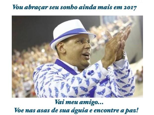 Paulo Barros, carnavalesco da Portela, lamenta morte de Falcon nas redes sociais (Foto: Reprodução/@paulobarros62 )