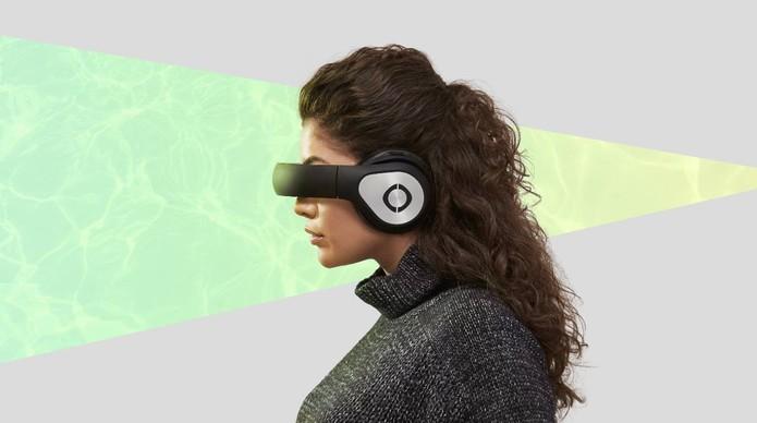 Headset oferece conteúdo 3D e 360º como se fosse cinema portátil (Foto: Divulgação/Avegant)