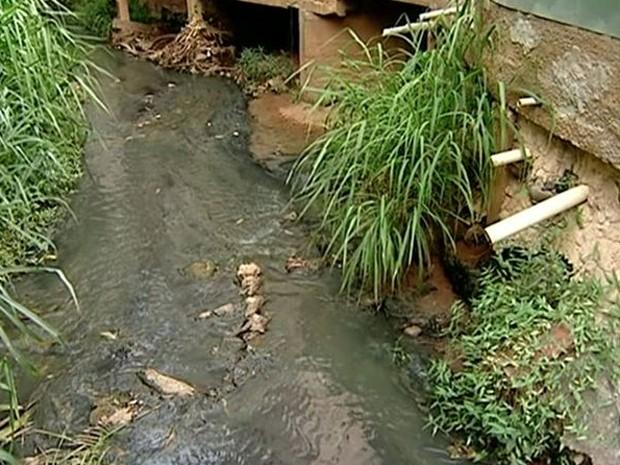 Esgoto é despejado sem tratamento em Colatina no Espírito Santo (Foto: Reprodução/ TV Gazeta)
