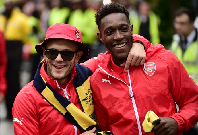 Jack Wilshere e Danny Welbeck no Arsenal (Foto: Leon Neal/ AFP)
