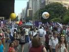 Grupo faz ato em SP pelo dia Internacional 'de Luta' das Mulheres