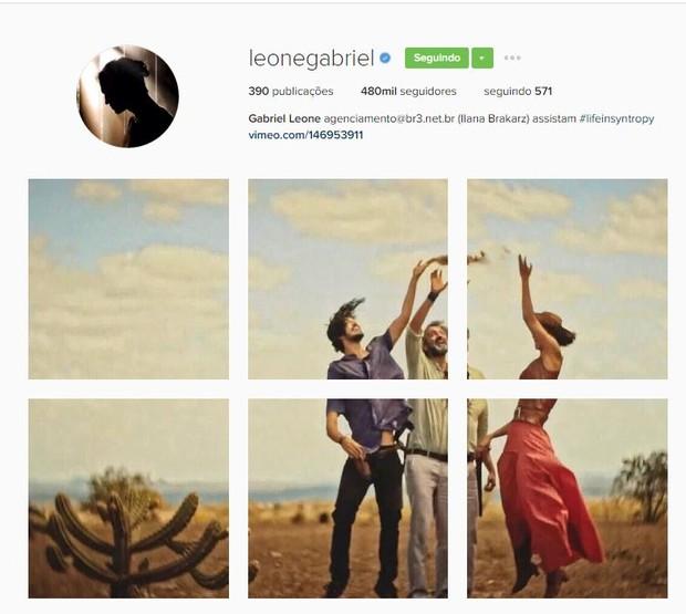 Gabriel Leone posta homenagem a Domingos Montagner no Instagram (Foto: Reprodução / Instagram)
