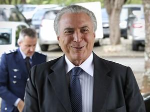 Michel Temer antes de reunião com Jacques Wagner (Foto: Dida Sampaio/Estadão Conteúdo)