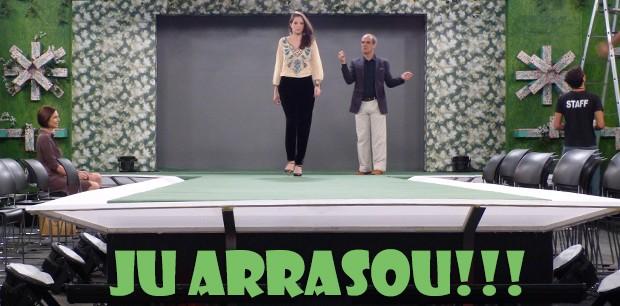 Ju arrasou na passarela!!! (Foto: Malhação / TV Globo)