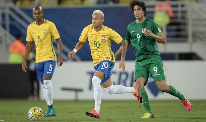 Neymar Marcelo Moreno Brasil Bolívia Seleção (Foto: Pedro Martins/Mowa Press)
