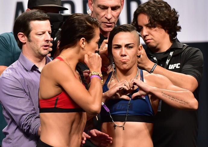 Jéssica Andrade, Bate-Estaca, pesagem UFC 211, MMA (Foto: Jason Silva)