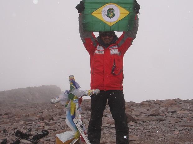 Rosier foi o primeiro alpinista do Norte/Nordeste brasileiro a escalar o Aconcágua  (Foto: Rosier Alexandre/Arquivo Pessoal)