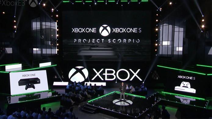 Xbox One Scorpio foi apresentado no final da conferência da Microsoft na E3 2016 enquanto o Xbox One S foi mostrado no início (Foto: Reprodução/Windows Central)