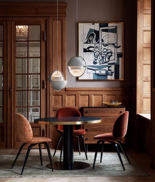 Décor do dia: sala de jantar sofisticada em tons terrosos (Foto: Divulgação)