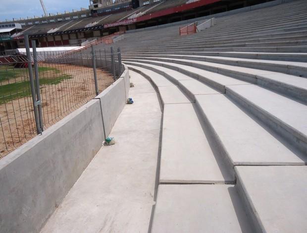 Obras no estádio Beira-Rio, em Porto Alegre (Foto: Inter, DVG)