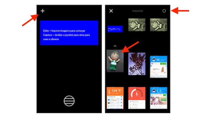 Importando uma foto da biblioteca do Android para o VSCO Cam (Foto: Reprodução/Marvin Costa) (Foto: Importando uma foto da biblioteca do Android para o VSCO Cam (Foto: Reprodução/Marvin Costa))