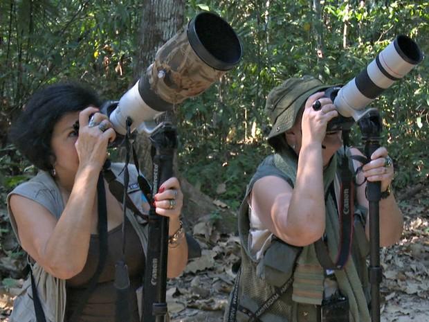 Observadores de pássaros participam de encontro no Parque Zoobotânico da Ufac (Foto: Reprodução/Rede Amazônica Acre)