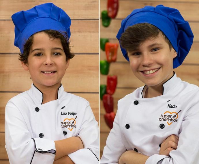 Felipe e Kadu no 'Super Chefinhos' (Foto:  Globo/Renato Rocha Miranda)