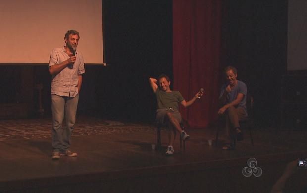 """""""A Dramaturgia do Palhaço"""" aconteceu no Teatro Plácido de Castro, em Rio Branco (Foto: Reprodução TV Acre)"""