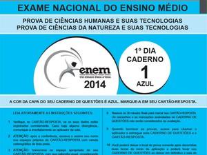 prova azul do Enem 2014 (Foto: Reprodução/Inep)